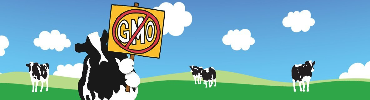 Cow holding sign
